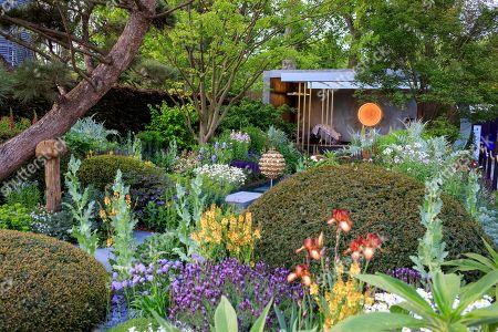 Stock Image of The Morgan Stanley garden, Designed by Chris Beardshaw, Built by Chris Beardshaw Ltd