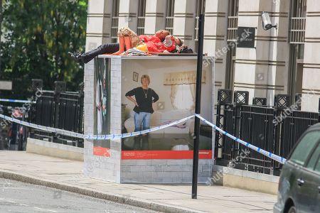 Greenpeace protest BP headquarters London Stock Photos