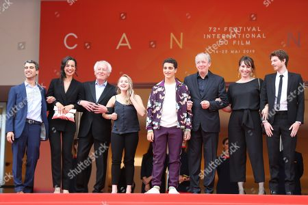 Othmane Moumen, Myriem Akheddiou, Jean-Pierre Dardenne, Victoria Bluck, Idir Ben Addi, Luc Dardenne, Carol Duarte and Olivier Bonnaud