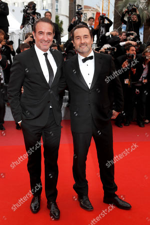 Jean Dujardin (L) and Gilles Lellouche arrive for the screening of 'La Belle Epoque' during the 72nd annual Cannes Film Festival, in Cannes, France, 20 May 2019. The movie is presented out of competition at the festival which runs from 14 to 25 May.