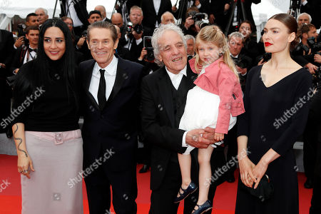 Giada Colagrande, US actor Willem Dafoe, US director Abel Ferrara, US actress Anna Ferrara and Moldovan actress Cristina Chiriac arrive for the screening of 'La Belle Epoque' during the 72nd annual Cannes Film Festival, in Cannes, France, 20 May 2019. The movie is presented out of competition at the festival which runs from 14 to 25 May.