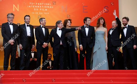 Francois Kraus, Micheal Cohen, Guillaume Canet, Daniel Auteuil, Fanny Ardant, Director Nicolas Bedos, Doria Tillier, Denis Podalydes and Denis Pineau-Valencienne arrive for the screening of 'La Belle Epoque' during the 72nd annual Cannes Film Festival, in Cannes, France, 20 May 2019. The movie is presented out of competition at the festival which runs from 14 to 25 May.