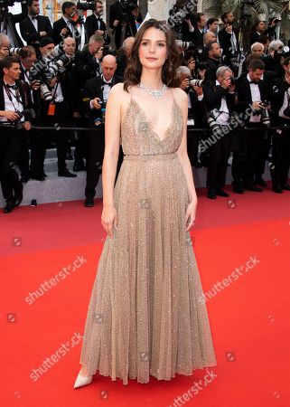 Josephine Japy poses for photographers upon arrival at the premiere of the film 'La Belle Epoque' at the 72nd international film festival, Cannes, southern France