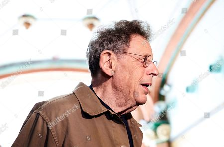 Philip Glass poses during the presentation of his two upcoming concerts at the Music Palace in Barcelona, Spain, 20 May 2019.