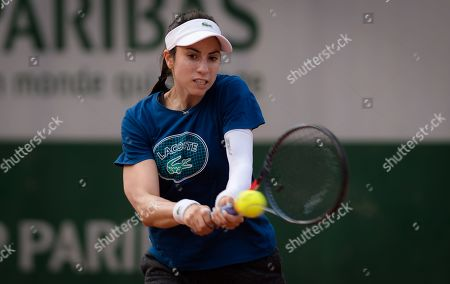 Christina McHale of the United States practices ahead of the tournament