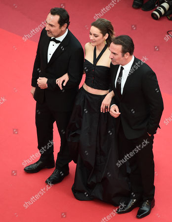 Gilles Lellouche, Marion Cotillard and Jean Dujardin arrive for the screening of 'La Belle Epoque' during the 72nd annual Cannes Film Festival, in Cannes, France, 20 May 2019. The movie is presented out of competition at the festival which runs from 14 to 25 May.