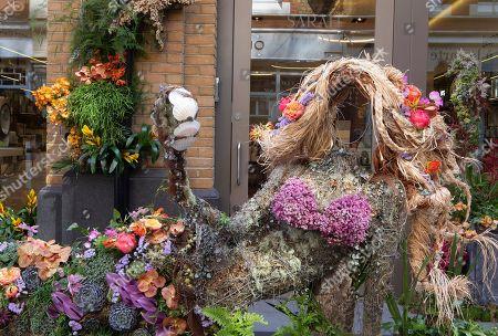 Stock Image of Chelsea in Bloom shop decorations: Sarah Chapman