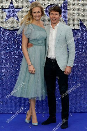 James Blunt (R) and wife Sofia Wellesley (L) attend the UK premiere of Rocketman in Central London, Britain, 20 May 2019. The movie is due to be released in the UK on 22 May 2019.