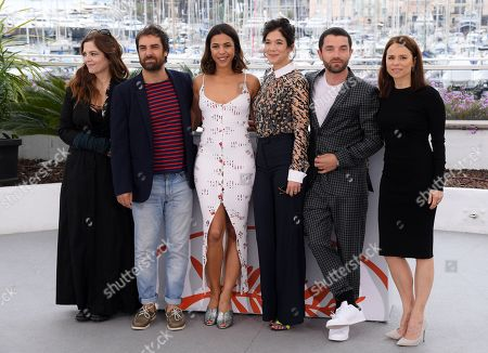 Stock Picture of Agnes Jaoui, Gregory Montel, Zita Hanrot, Melanie Doutey, Guillaume Gouix and Suzanne Clement