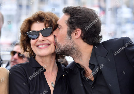 Stock Picture of Fanny Ardant and Nicolas Bedos
