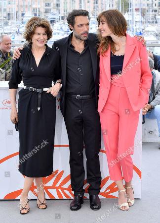 Fanny Ardant, Nicolas Bedos and Doria Tillier