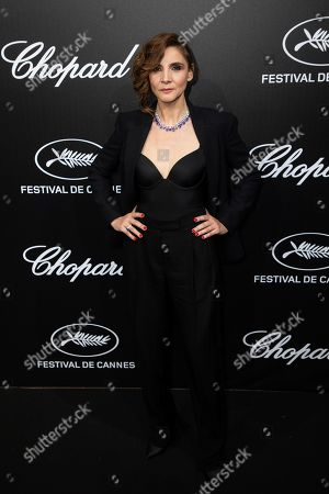 Clotilde Courau poses for photographers upon arrival at the Chopard Trophee event at the 72nd international film festival, Cannes, southern France