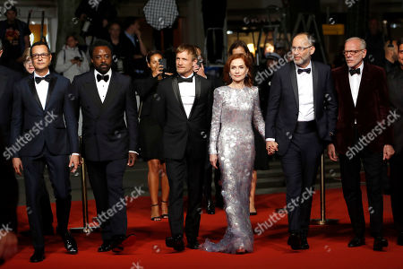 Mauricio Zacharias, British actor Ariyon Bakare, Belgian actor Jeremie Renier, French actress Isabelle Huppert, US director Ira Sachs and French actor Pascal Greggory arrive for the screening of 'Frankie' during the 72nd annual Cannes Film Festival, in Cannes, France, 20 May 2019. The movie is presented in the Official Competition of the festival which runs from 14 to 25 May.