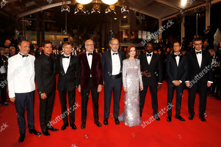 (3L-2R) Belgian actor Jeremie Renier, French actor Pascal Greggory, US director Ira Sachs, French actress Isabelle Huppert, British actor Ariyon Bakare, Screenwriter Mauricio Zacharias and guests arrive for the screening of 'Frankie' during the 72nd annual Cannes Film Festival, in Cannes, France, 20 May 2019. The movie is presented in the Official Competition of the festival which runs from 14 to 25 May.
