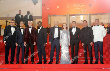 (2L-3R) Screenwriter Mauricio Zacharias, French actor Pascal Greggory, British actor Ariyon Bakare, US director Ira Sachs, French actress Isabelle Huppert, Belgian actor Jeremie Renier and guests arrive for the screening of 'Frankie' during the 72nd annual Cannes Film Festival, in Cannes, France, 20 May 2019. The movie is presented in the Official Competition of the festival which runs from 14 to 25 May.