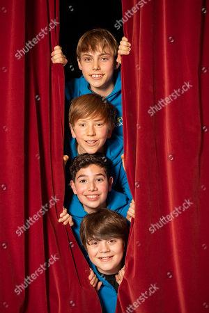 Stock Image of Rufus Kampa, Aaron Gelkoff, Michael Hawkins and Nicholas Antonio-Tibbitts