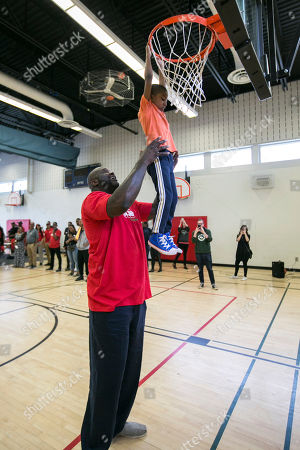 Editorial image of Shaq visit to Boys and Girls Club, Scarborough, Canada - 20 May 2019