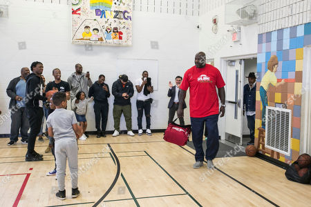 Editorial photo of Shaq visit to Boys and Girls Club, Scarborough, Canada - 20 May 2019