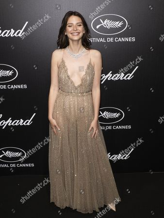 Josephine Japy attends the Trophee Chopard Dinner at the Agora during the 72nd annual Cannes Film Festival, in Cannes, France, 20 May 2019. The festival runs from 14 to 25 May.