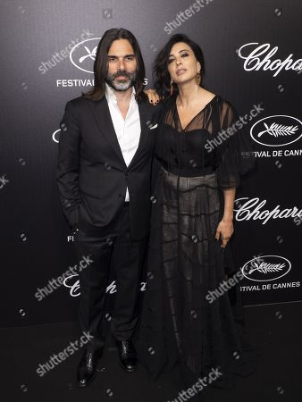Stock Photo of Khaled Mouzanar (L) and Nadine Labaki (R) attend the Trophee Chopard Dinner at the Agora during the 72nd annual Cannes Film Festival, in Cannes, France, 20 May 2019. The festival runs from 14 to 25 May.