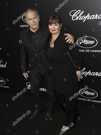 Enki Bilal (L) and guest attend the Trophee Chopard Dinner at the Agora during the 72nd annual Cannes Film Festival, in Cannes, France, 20 May 2019. The festival runs from 14 to 25 May.