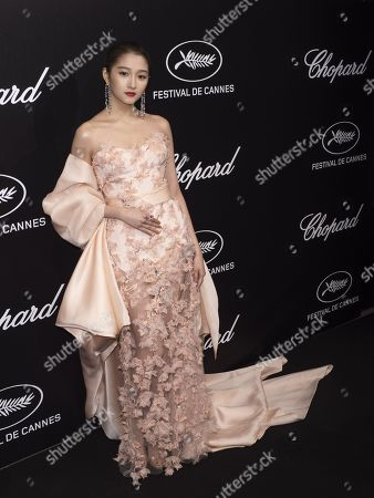 Guan Xiaotong attends the Trophee Chopard Dinner at the Agora during the 72nd annual Cannes Film Festival, in Cannes, France, 20 May 2019. The festival runs from 14 to 25 May.