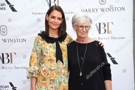 Stock Photo of Katie Holmes, Kathleen Stothers-Holmes. Actress Katie Holmes, left, and mother Kathleen Stothers-Holmes attend the American Ballet Theatre's annual spring gala at the Metropolitan Opera House, in New York