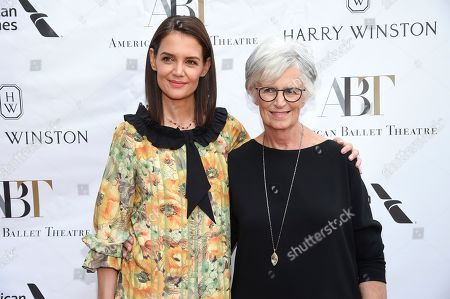 Stock Image of Katie Holmes, Kathleen Stothers-Holmes. Actress Katie Holmes, left, and mother Kathleen Stothers-Holmes attend the American Ballet Theatre's annual spring gala at the Metropolitan Opera House, in New York