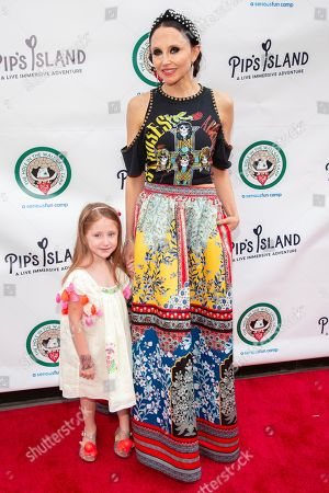 """Stacey Bendet Eisner, Athena Belle Eisner. Stacey Bendet Eisner, right, and Athena Belle Eisner attend the opening night of """"Pip's Island"""" at 400 West 42nd Street, in New York"""