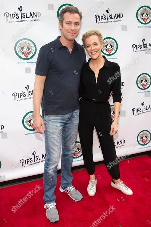 """Douglas Brunt, Megyn Kelly. Douglas Brunt, left, and Megyn Kelly attend the opening night of """"Pip's Island"""" at 400 West 42nd Street, in New York"""