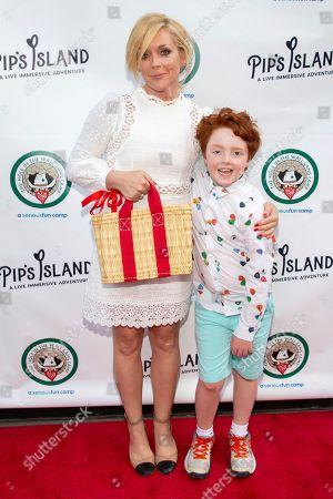 """Jane Krakowski, Bennett Robert Godley. Jane Krakowski, left, and Bennett Robert Godley attend the opening night of """"Pip's Island"""" at 400 West 42nd Street, in New York"""