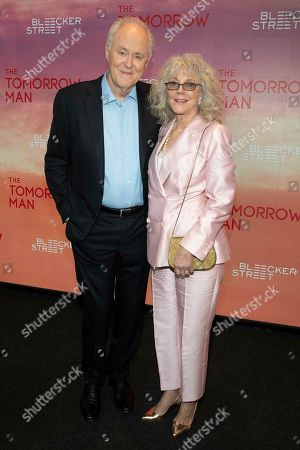 """John Lithgow, Blythe Danner. John Lithgow, left, and Blythe Danner, right, attend a special screening of """"The Tomorrow Man"""" at the Robin Williams Center, in New York"""