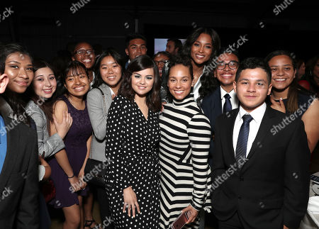 Stock Photo of Selena Gomez, Alicia Keys, Ciara and guests