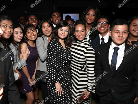 Stock Picture of Selena Gomez, Alicia Keys, Ciara and guests