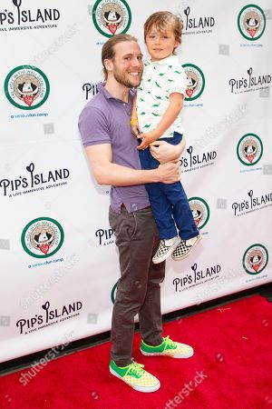 "Zachary Booth Dorff, guest. Zachary Booth Dorff, left, and guest attend the opening night of ""Pip's Island"" at 400 West 42nd Street, in New York"