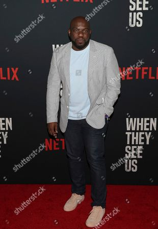 """Omar J. Dorsey attends the world premiere of """"When They See Us"""" at the Apollo Theater, in New York"""