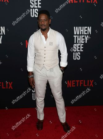 """Blair Underwood attends the world premiere of """"When They See Us"""" at the Apollo Theater, in New York"""
