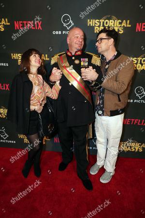 Natasha Leggero, Jeffrey Ross and Moshe Kasher