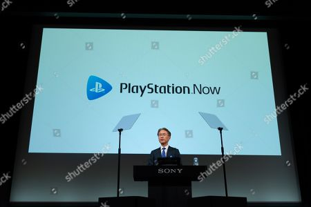 Japan Sony's President and CEO Kenichiro Yoshida speaks during a press conference at Sony headquarter in Tokyo. Sony's CEO gave the guidelines for Sony's corporate strategy.