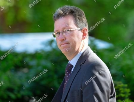 Jeremy Wright, Secretary of State for Digital, Culture, Media and Sport, arrives for the last Cabinet meeting before the European elections.