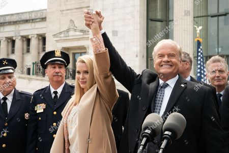 Laurie Holden as Greta Bellows and Kelsey Grammer as Gore Bellows