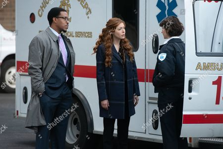 Russell Hornsby as Ezekiel 'Easy' Boudreau, Rachelle Lefevre as Madeline Scott and Lucy Carapetyan as Lucy Carapetyan as EMT Alice Walker