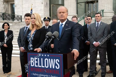 Stock Photo of Laurie Holden as Greta Bellows and Kelsey Grammer as Gore Bellows