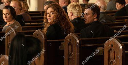 Rachelle Lefevre as Madeline Scott and Riley Smith as Levi Scott