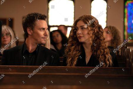 Riley Smith as Levi Scott and Rachelle Lefevre as Madeline Scott