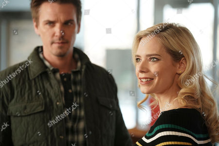Riley Smith as Levi Scott and Caitlin Mehner as Heather Husband