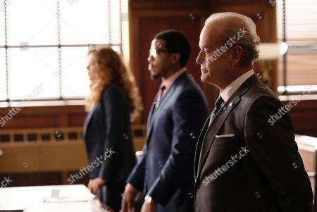 Rachelle Lefevre as Madeline Scott, Russell Hornsby as Ezekiel 'Easy' Boudreau and Kelsey Grammer as Gore Bellows