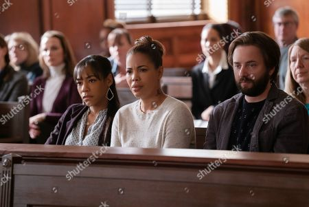Nikki M. James as Violet Bell, Candice Coke as Wren and Vincent Kartheiser as Bodie Quick