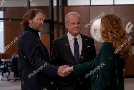 Jeffrey Nordling as Rick Zahn, Kelsey Grammer as Gore Bellows and Rachelle Lefevre as Madeline Scott