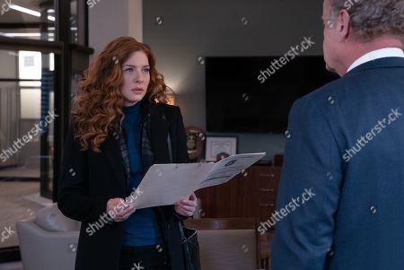 Rachelle Lefevre as Madeline Scott and Kelsey Grammer as Gore Bellows